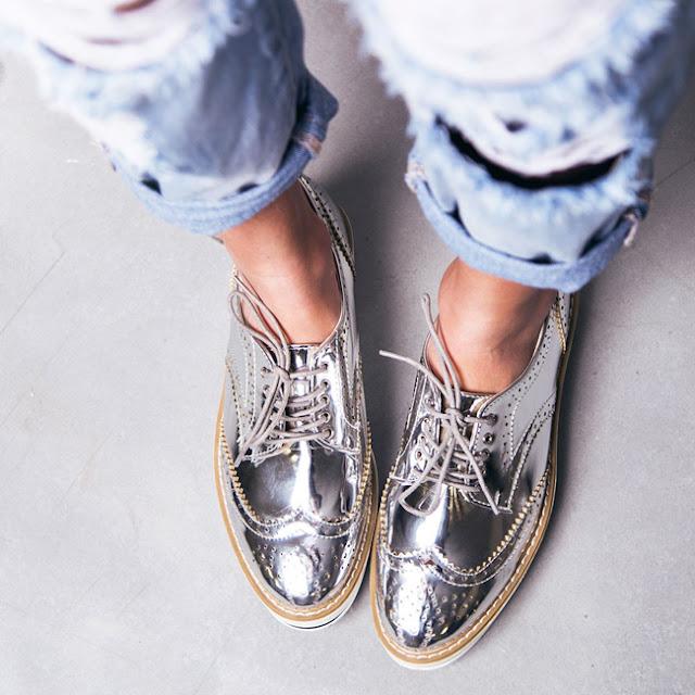 Resultado de imagem para sapatos metalizados MODELOS