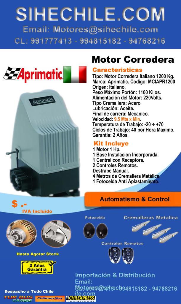 Rejas rancagua motor para portones for Motor porton electrico