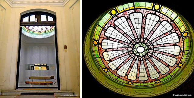 Detalhes Belle Époque de um casarão do Bairro Lastarria, em Santiago do Chile