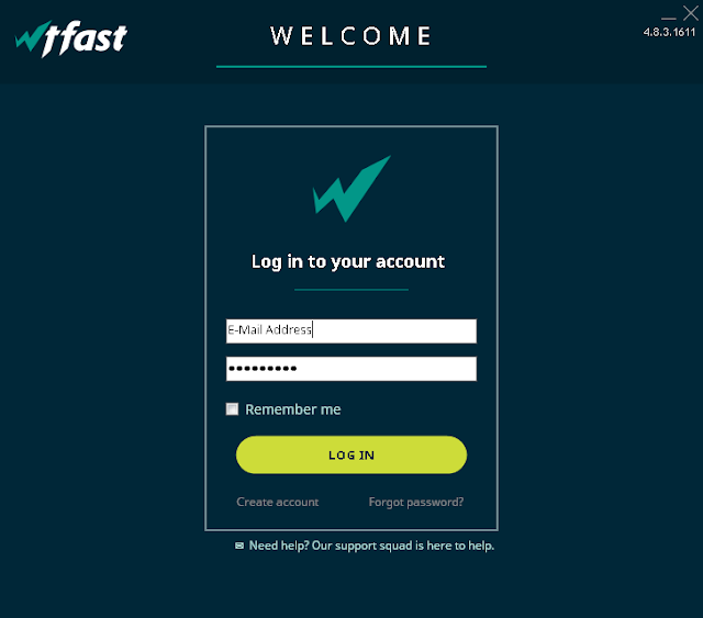 Start by running WTFast and logging in to your WTFast account.