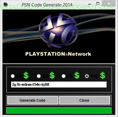 PSN Code Generate 2015 no survey no password download ...