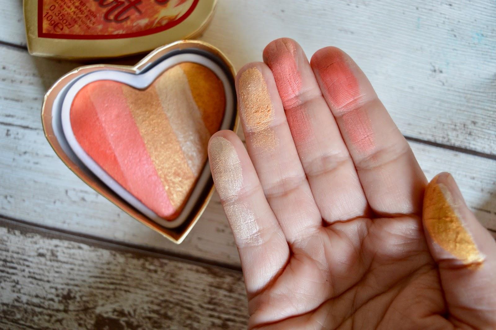 I Heart Makeup Dragons Heart Highlighter swatch