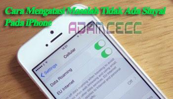 Cara mengaktifkan data seluler di iphone