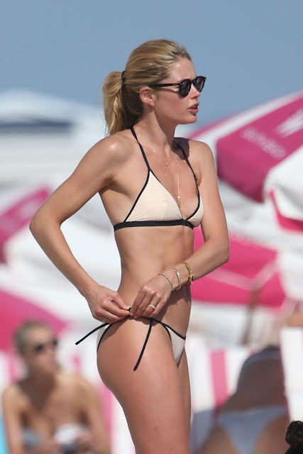 Doutzen Kroes Hot in Bikini at the Beach in Miami