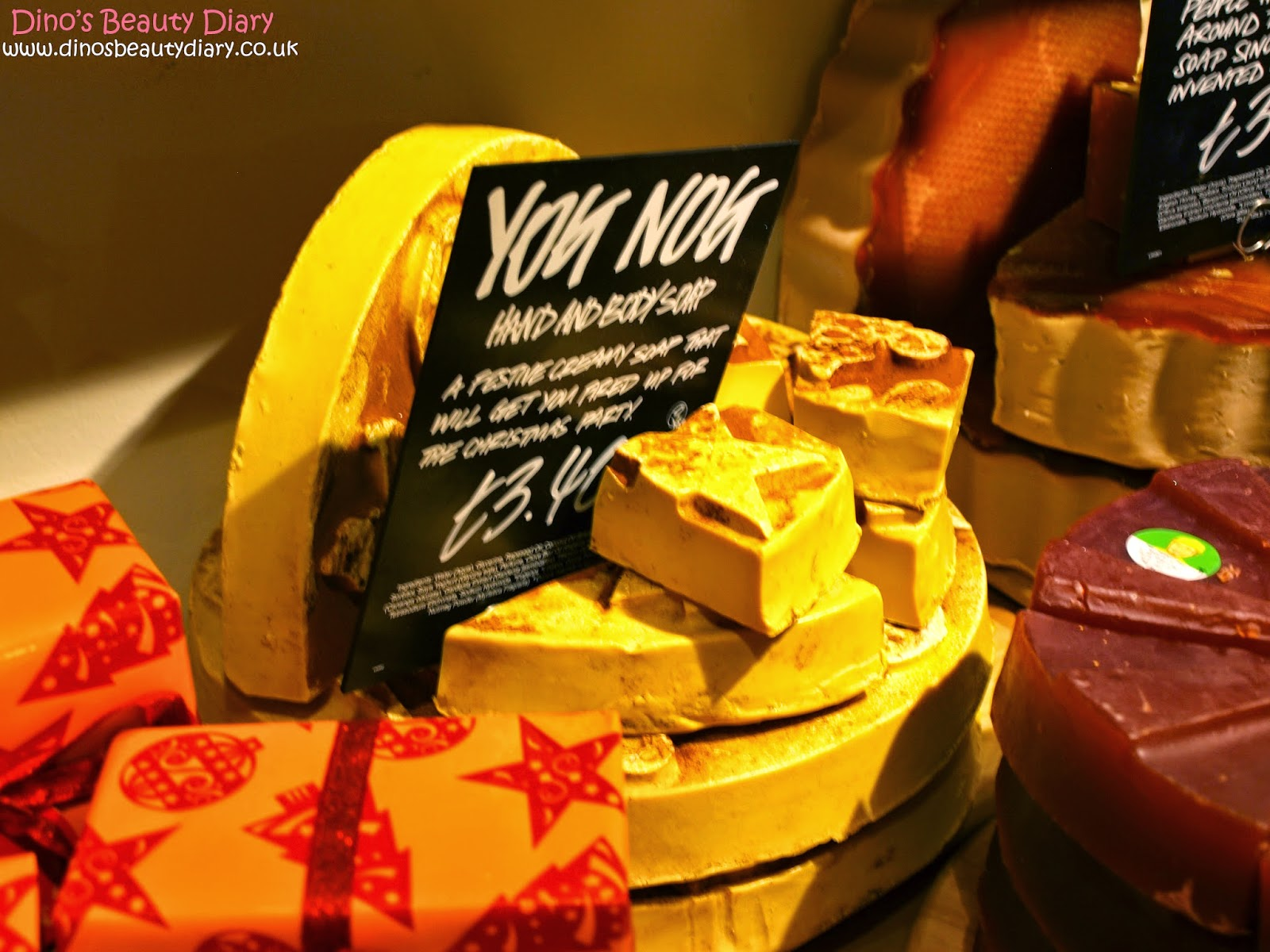 Dino's Beauty Diary - Lush Nottingham Bloggers Event - yog nog soap