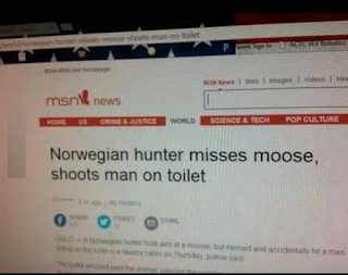 msn news website funny headline gunshot fail