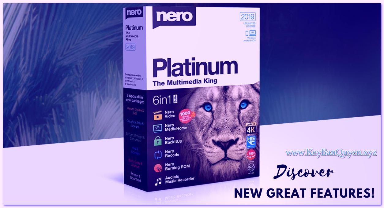 Download Nero Platinum 2019 Suite 20.0.05000 Multilingual Full Key, Bộ phần mềm xử lý Multimedia của hãng Nero