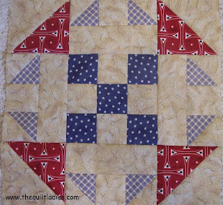 Red, White and Blue Quilt Pattern Block Tutorial