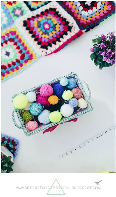 organise organize yarn stash diy tips tricks ideas bright colorful wool in basket