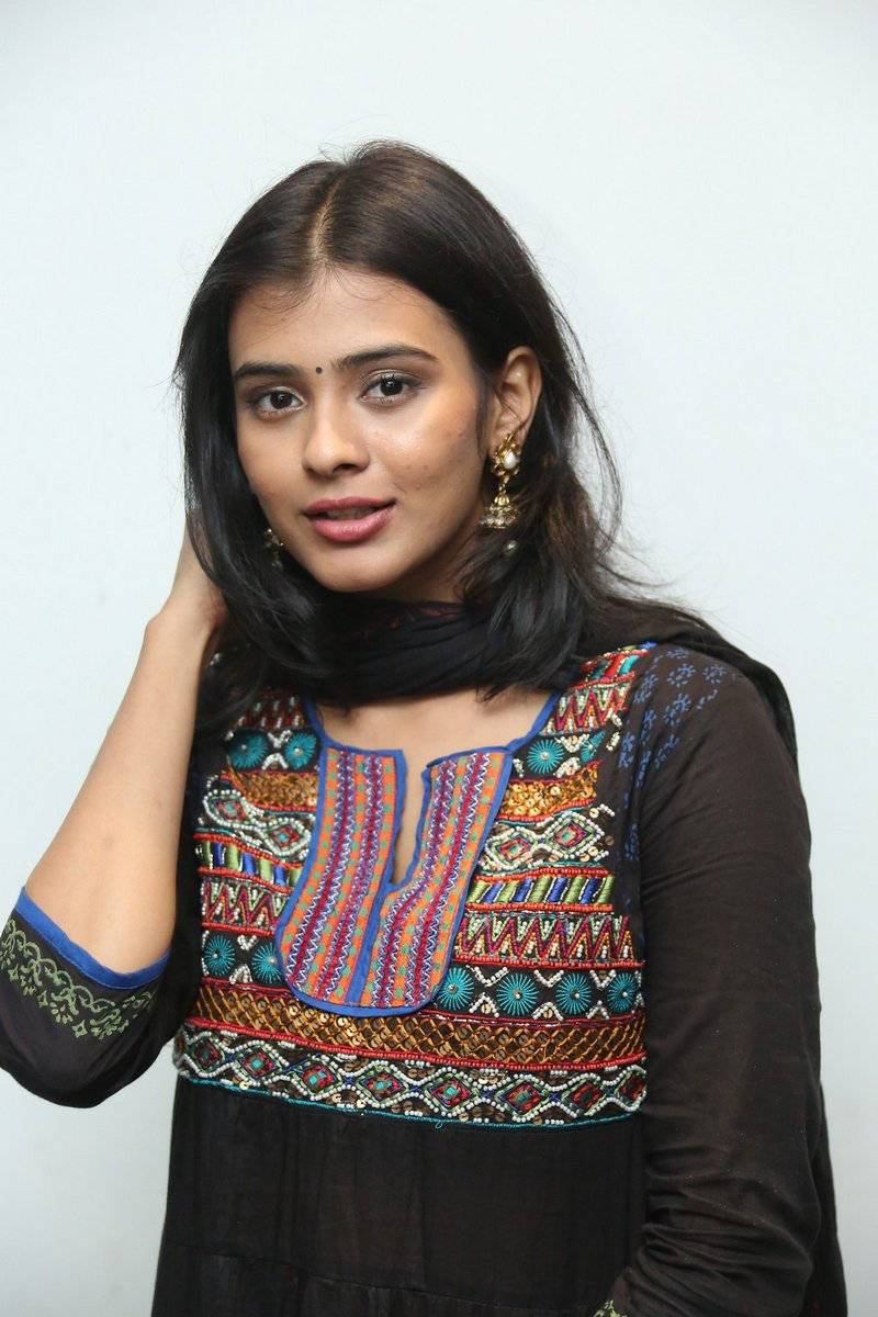 Actress Habah Patel Hot Stills In Black Dress