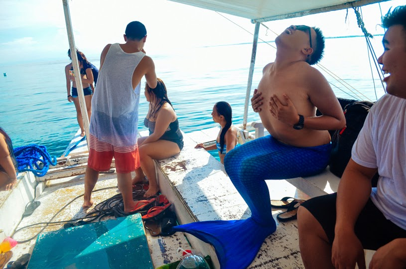 Island Hopping friends philippines cebu birthday drinks mermaid