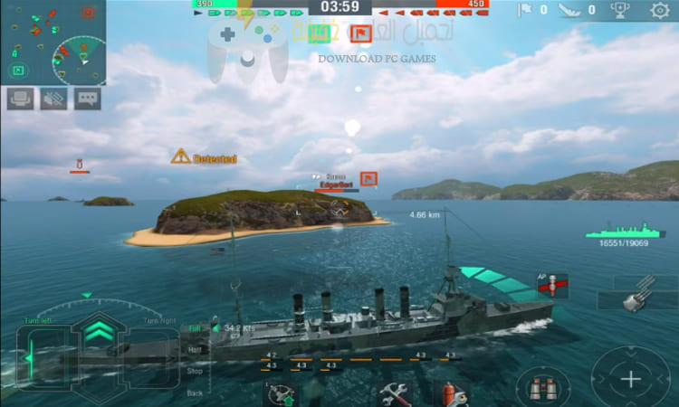 تحميل لعبة السفن الحربية