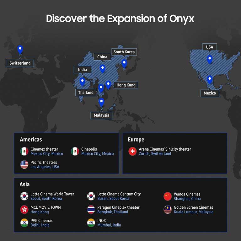 إكتشف شاشة العرض Onyx Cinema LED من سامسونج حول العالم