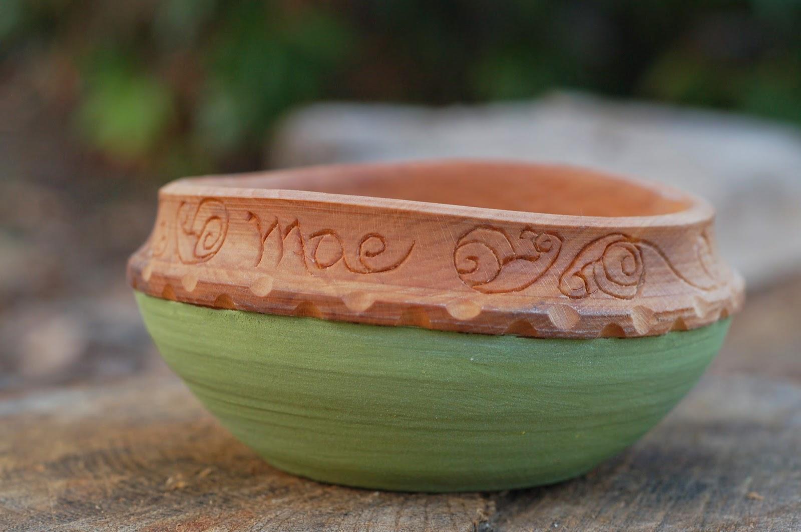 Birthday Bowl: Eric Goodson Woodcarving Notes: Mazie's Birthday Bowl