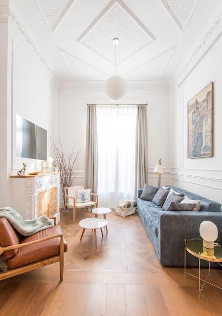 Detalii eclectice și motive geometrice într-un apartament de 85 m² din Barcelona