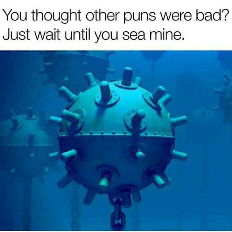Thought Your Puns Were Bad? Just wait until you sea mine