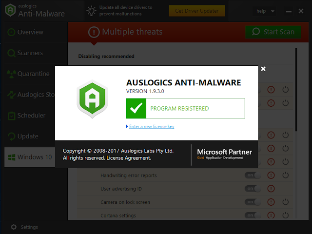 auslogics anti-malware 2016 key