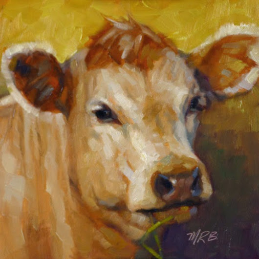Art by Mary Rochelle Burnham: Number 2 Cow