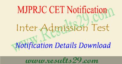 Mjptbcwreis inter admissions 2020, TSMJBC notification