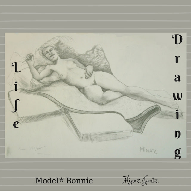 Life Drawing by Minaz Jantz Model Bonnie