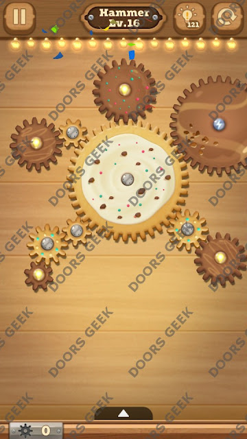 Fix it: Gear Puzzle [Hammer] Level 16 Solution, Cheats, Walkthrough for Android, iPhone, iPad and iPod