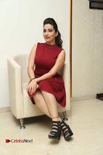 Telugu Tollywood Anchor Manjusha Pos in Red Short Dress  0112.JPG