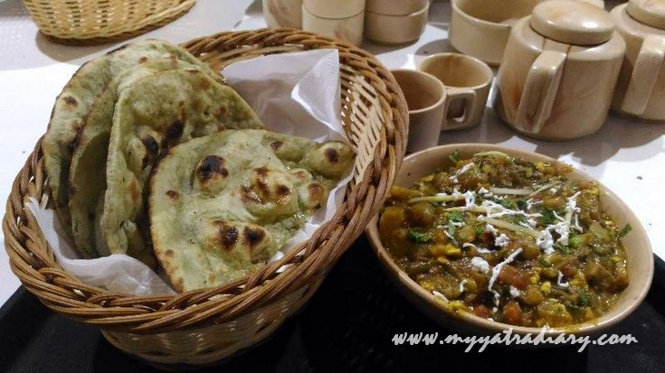 From the menu of Ammaji Restaurant Vrindavan