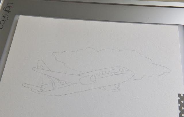 letadlo krok za krokem ilustrace