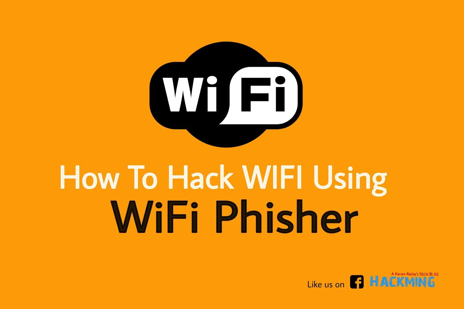 How to hack WIFI using WiFi Phisher