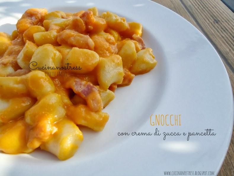 Ricetta Gnocchi Zucca E Pancetta.Cucinanostress Gnocchi Con Crema Di Zucca E Pancetta