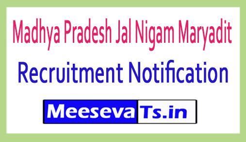 Madhya Pradesh Jal Nigam Maryadit MPJNM Recruitment