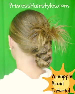 Fine Easy Hairstyles The Pineapple Braid Hairstyles For Girls Hairstyles For Women Draintrainus
