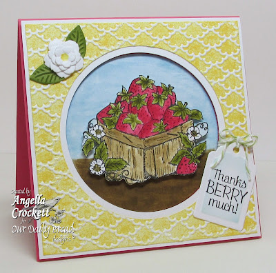 "ODBD ""Strawberries"" Card Designer Angie Crockett"