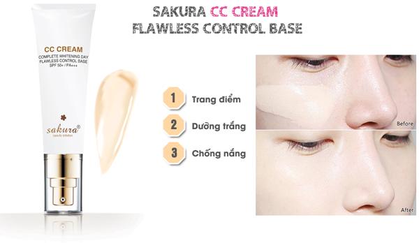 Hướng dẫn cách sử dụng Sakura CC Cream