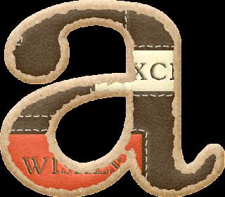 Alfabeto Marrón con Rótulos.