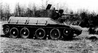 БТ-ИС с дополнительными наклонными бортами. 1937 год