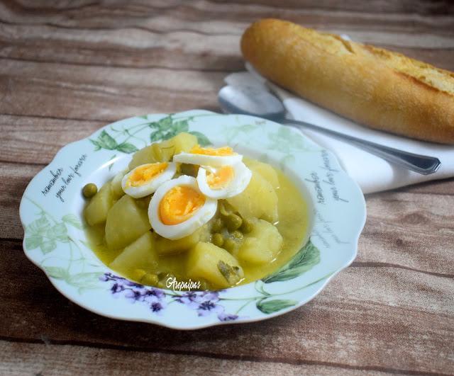 Patatas en Salsa Verde. Vídeo Receta