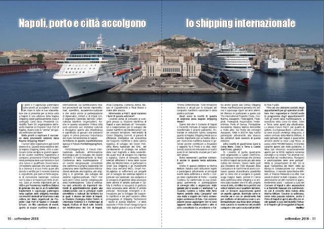SETTEMBRE2018 PAG. 10 - Napoli, porto e città accolgono lo shipping internazionale