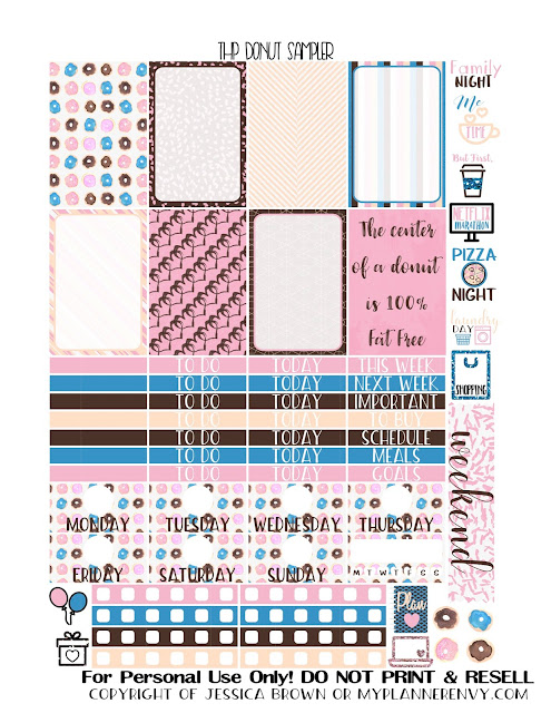 Free Printable Donut Sampler for the Classic Happy Planner from myplannerenvy.com