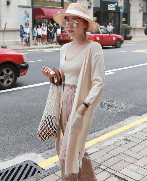 Knit Sleeveless Top And Open-Front Cardigan Set