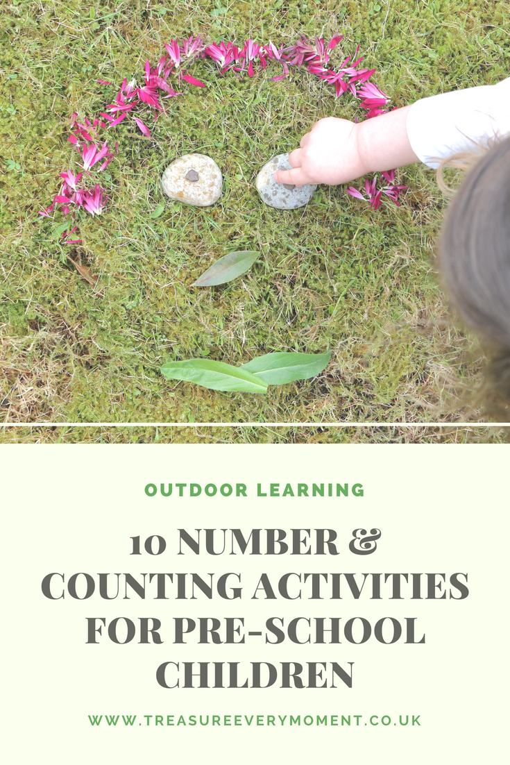 LEARNING: 10 Number & Counting Outdoor Activities for Pre-School Children