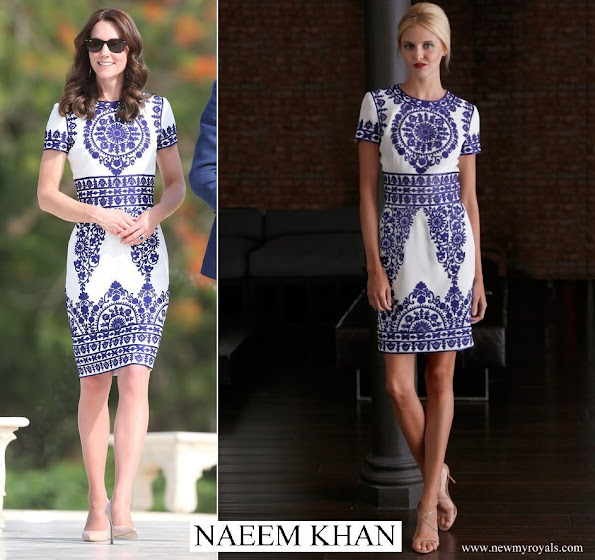 Kate Middleton wore NAEEM KHAN - Resort 2015 Collection dress
