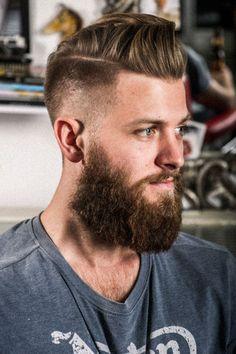 Barba con pelo largo o corto