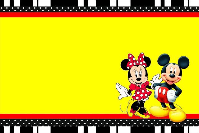 Mickey E Minnie Kit Completo Com Molduras Para Convites