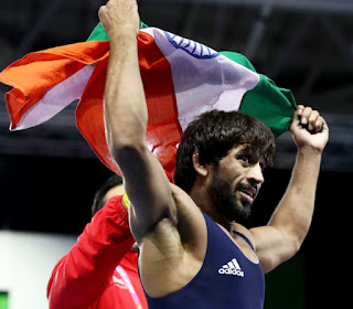 Bajrang Punia won international gold & Pinki was lone gold medalist