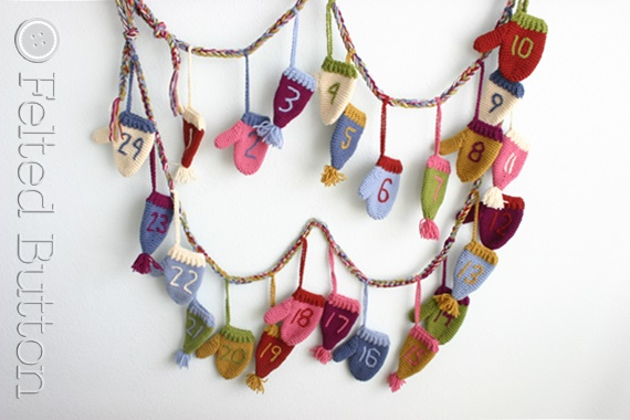 Cozy Christmas Countdown Crochet Pattern by Susan Carlson of Felted Button