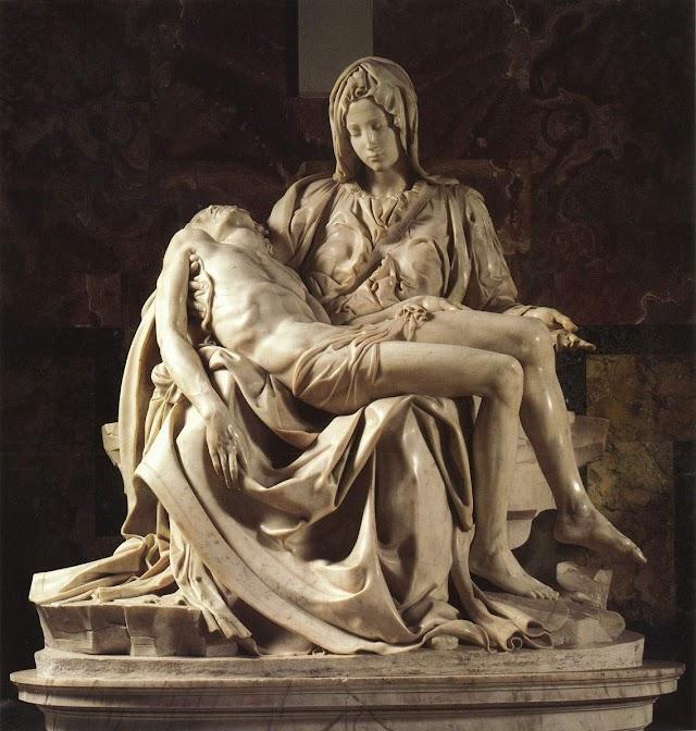 哀悼基督耶稣 云石雕像●耶稣在十字架上所说的最后七句话