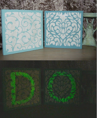 glow in the dark inspirational word art Stefanie Girard