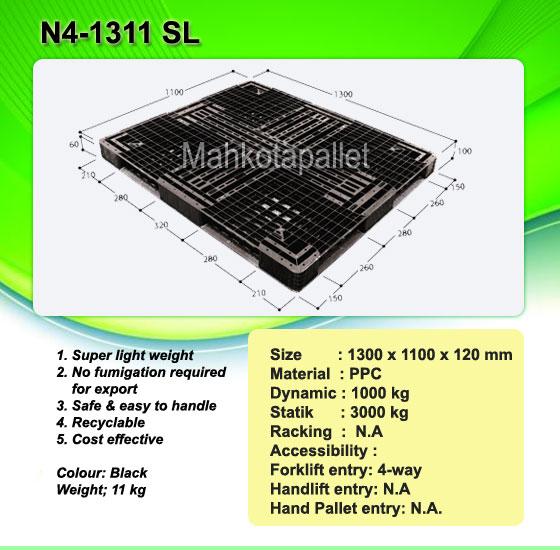 Pallet Plastik N4-1311 SL