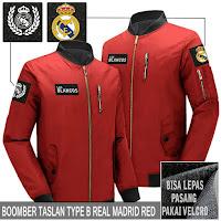 Jual Jaket Bomber Jokowi Pilot Real Madrid Logo Lepas Pasang